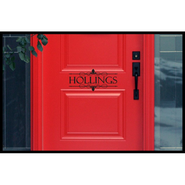 Personalized Name Established Door Decal 2