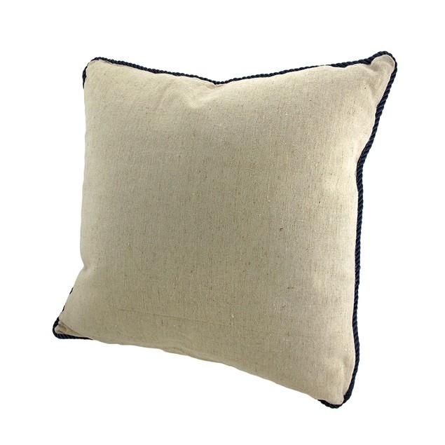 Linen Sand Dollar Decorative Throw Pillow With Throw Pillows