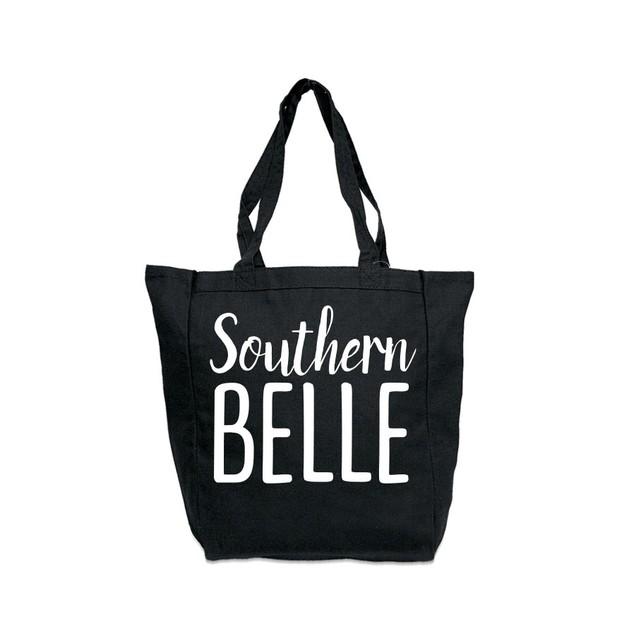 Southern Belle Black Tote Bag