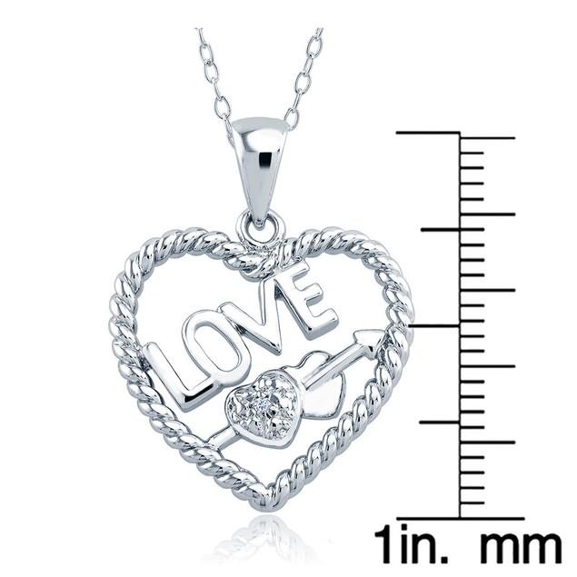 1/10cttw Diamond Accent Hearts Necklace