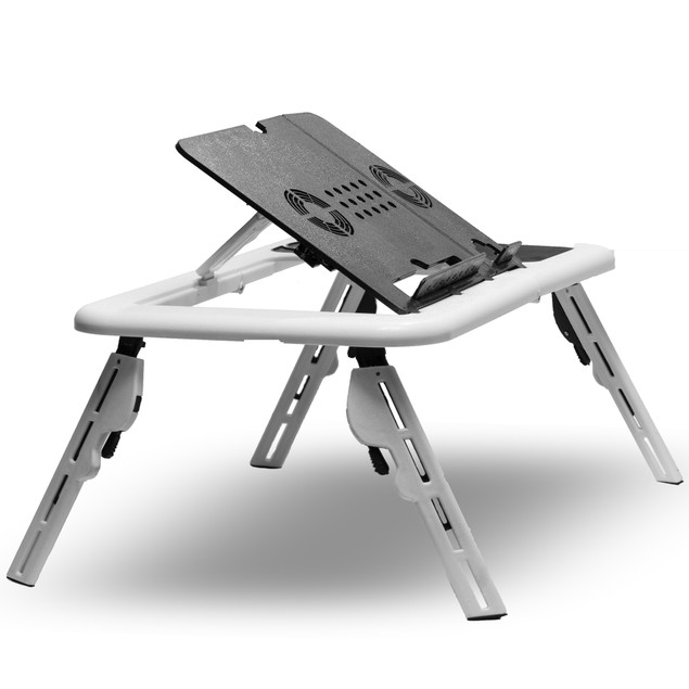 Portable Folding Laptop Table with Cooling Fans
