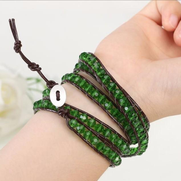 Green Ivey Wrap Bracelet