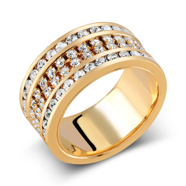 Gold Plated Preciosa Crystal Fashion Ring