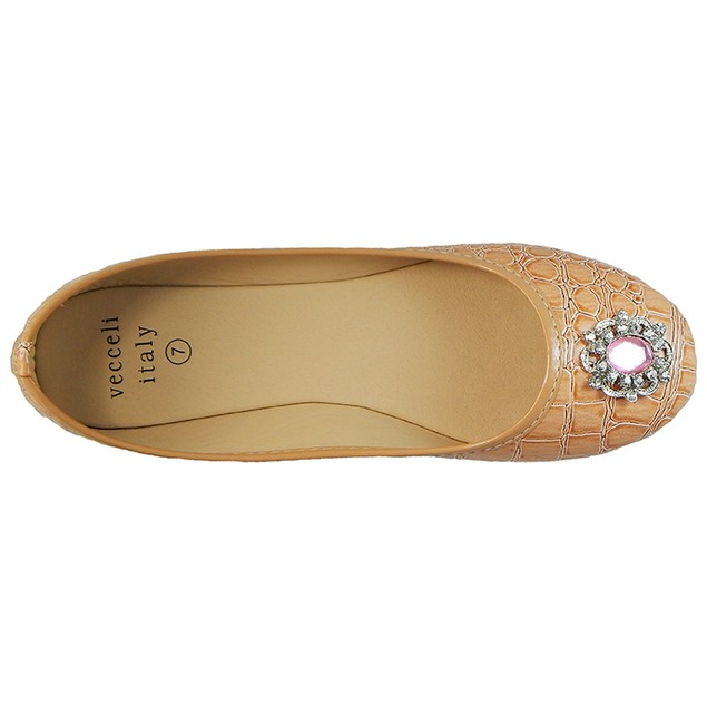 Designer Faux Crocodile Ballet Flats