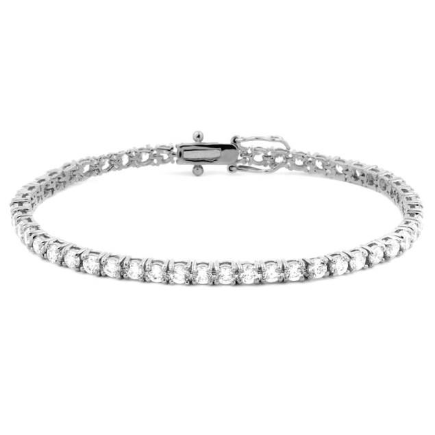 Classic Cubic Zirconia Endless Tennis Bracelet