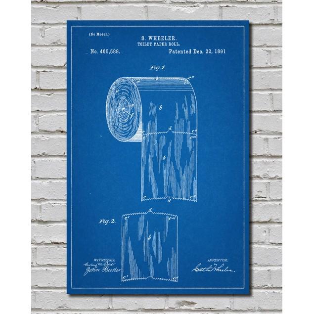 Toilet Paper Diagram Bathroom Print - 3 Colors