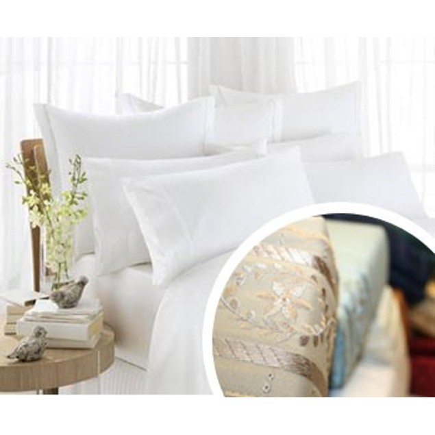 Embroidered Luxury 1600TC Full, Queen or King Bed Sheet Set