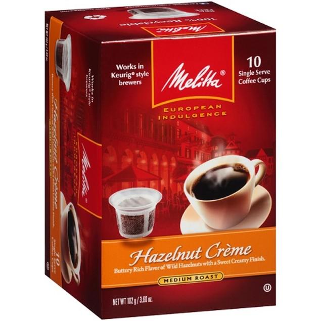 Melitta Hazelnut Creme Coffee Keurig K Cups