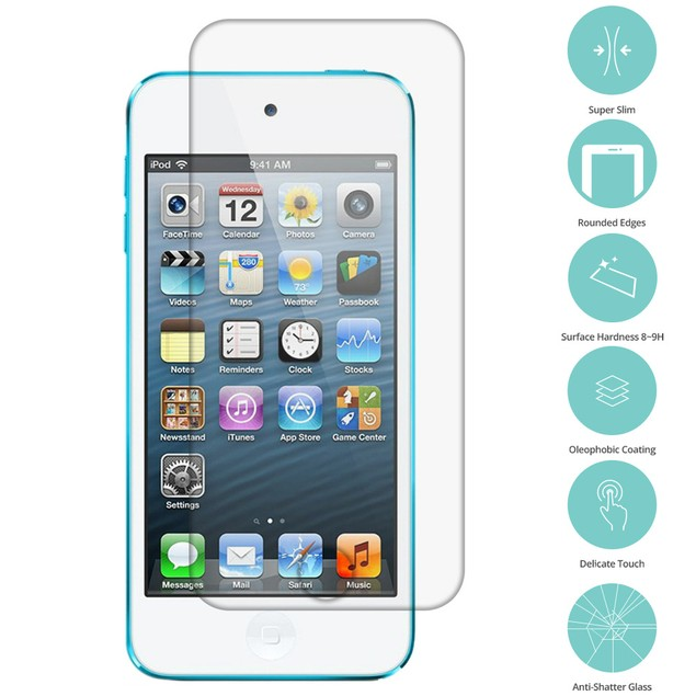 Apple iPod Touch 5th Gen Tempered Glass Film Screen Protector Clear