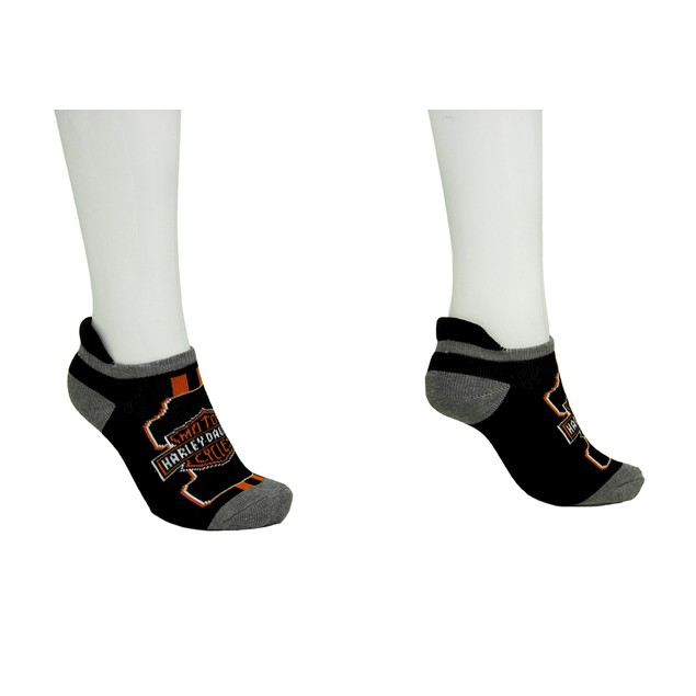 Harley Davidson 2 Pair Pack Ladies Athletic Ankle Womens Casual Socks