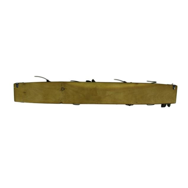 Wood & Metal Barrel Stave 4 Bottle Wall Mounted Wall Mounted Wine Racks