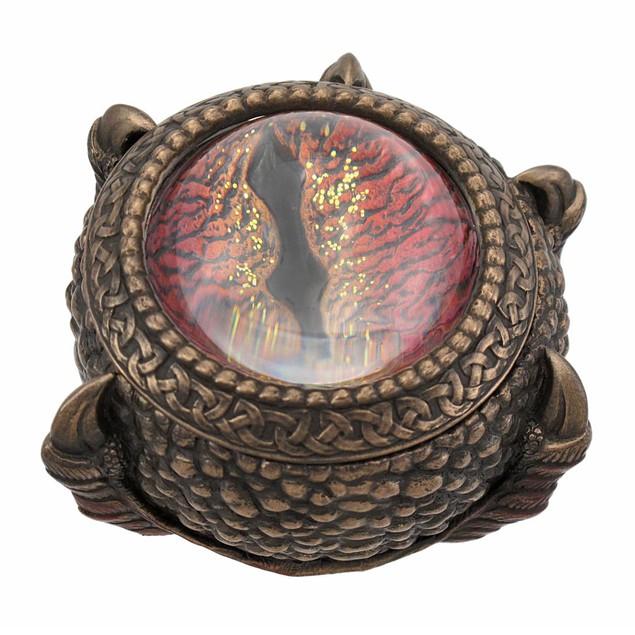 Bronze Finish Dragon Eye Trinket / Stash Box Decorative Boxes