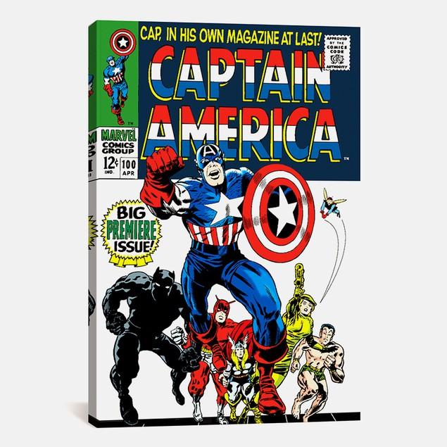 Marvel Comics Captain America Issue #100 Print