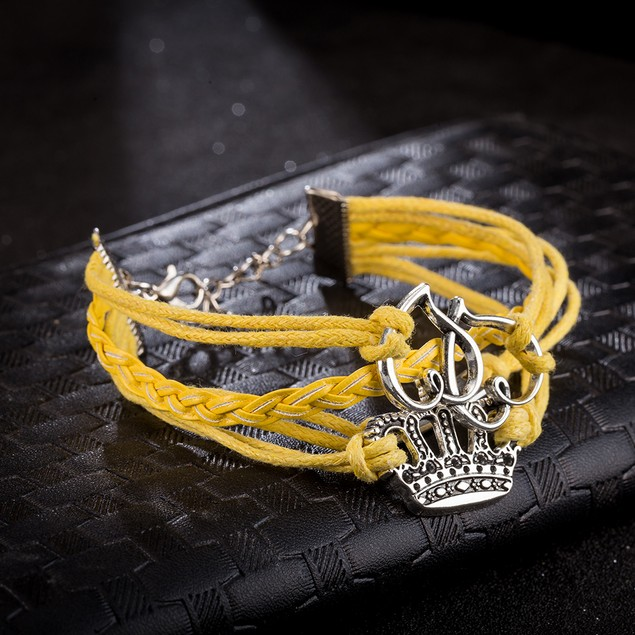 Yellow Citrine Intertwined Crown Bracelet