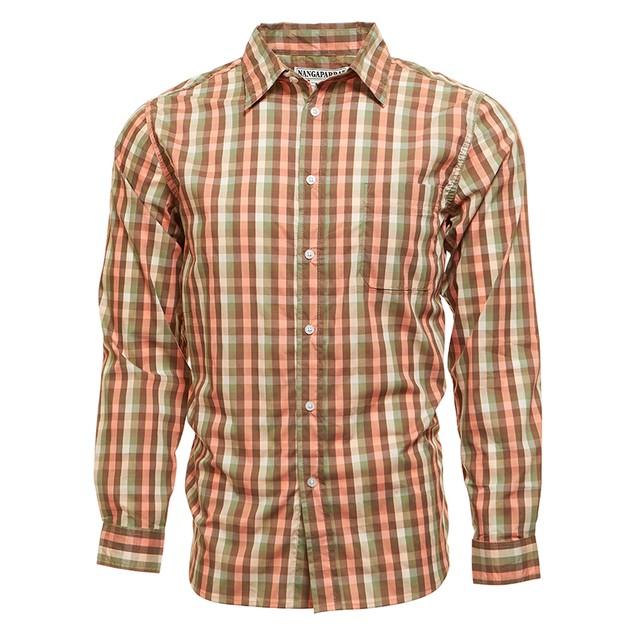 Men's Nangaparbat Long-Sleeve Checkered Slim Fit Button Down Shirts