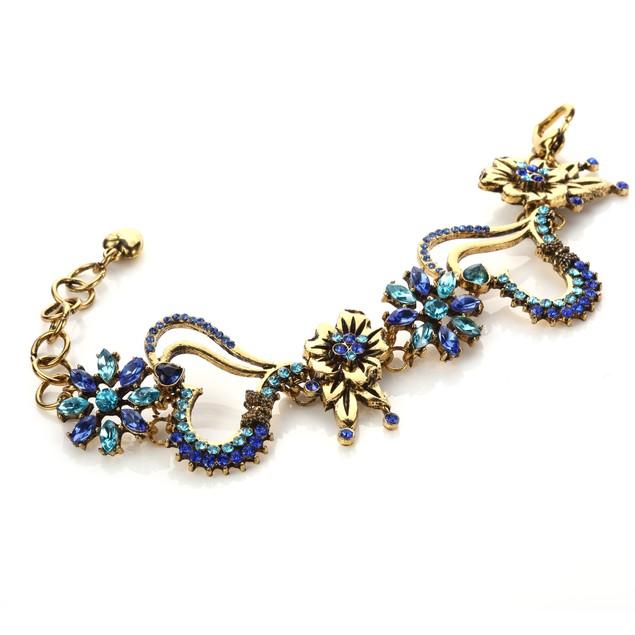 Blooming Love Intertwined Butterflu Bouquet Bracelet