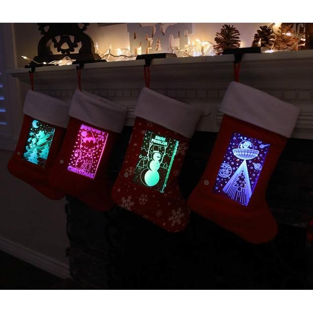 LED Light Up Christmas Stockings - 4 Styles