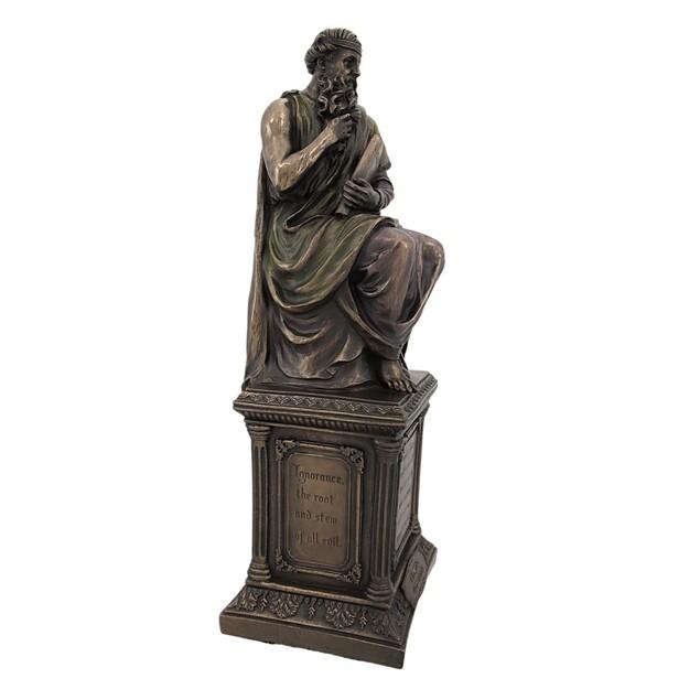 Bronze Finish Plato Statue Philosophy Statues