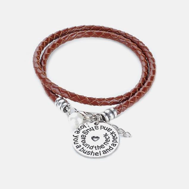 Bushel, Peck & Hug - Hand Stamped Bracelet