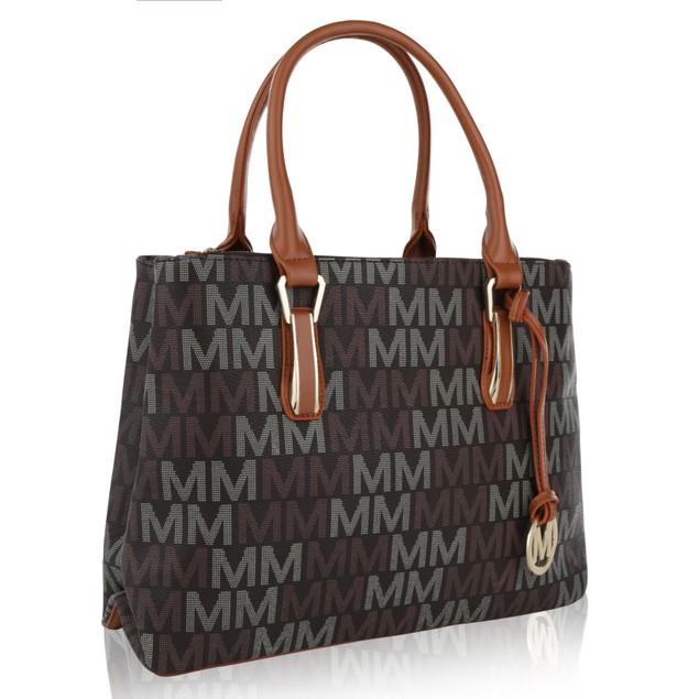 MKF Collection Diane Milan M Signature Handbag by Mia K Farrow