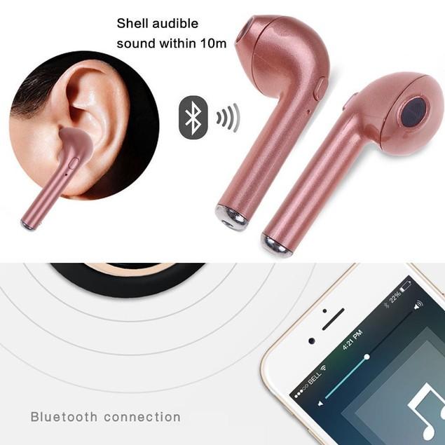 Dual Mini Bluetooth Stereo Earphone Headsets Earbud Wireless