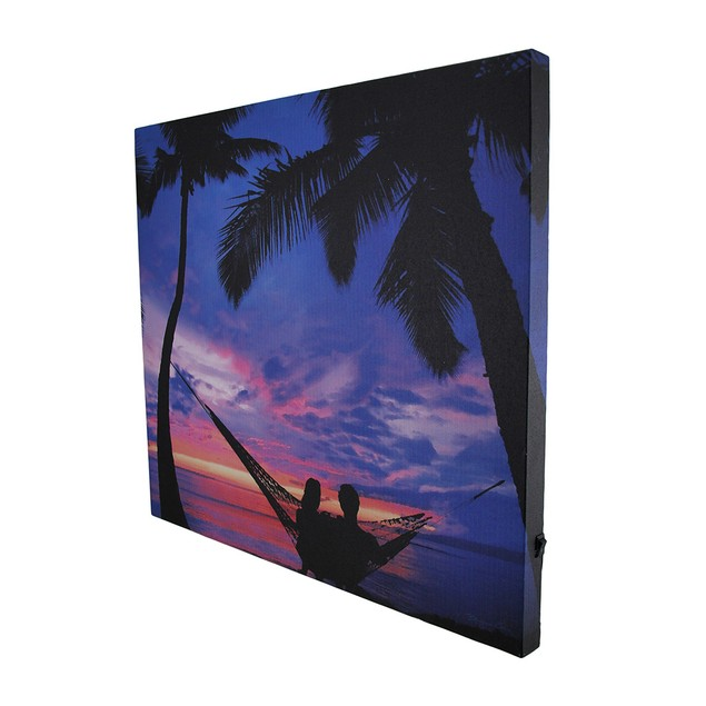 Sunset Beach Romance Led Lighted Canvas Wall Prints