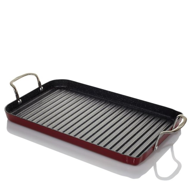 Curtis Stone DuraPan Nonstick Double-Burner Grill Pan