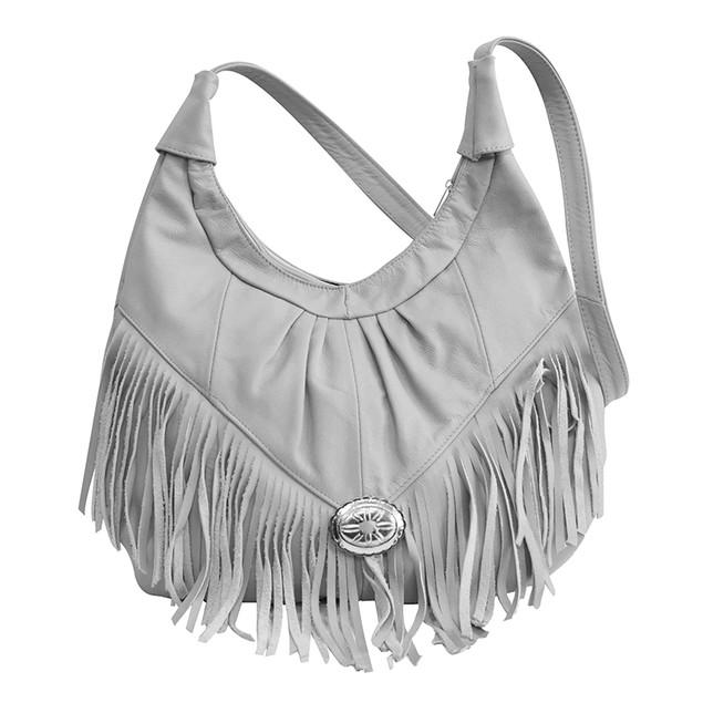 The Selena Fringe Soft Leather Hobo/Crossbody