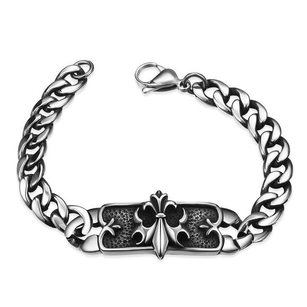 Ancient Roman Emblem Stainless Steel Bracelet