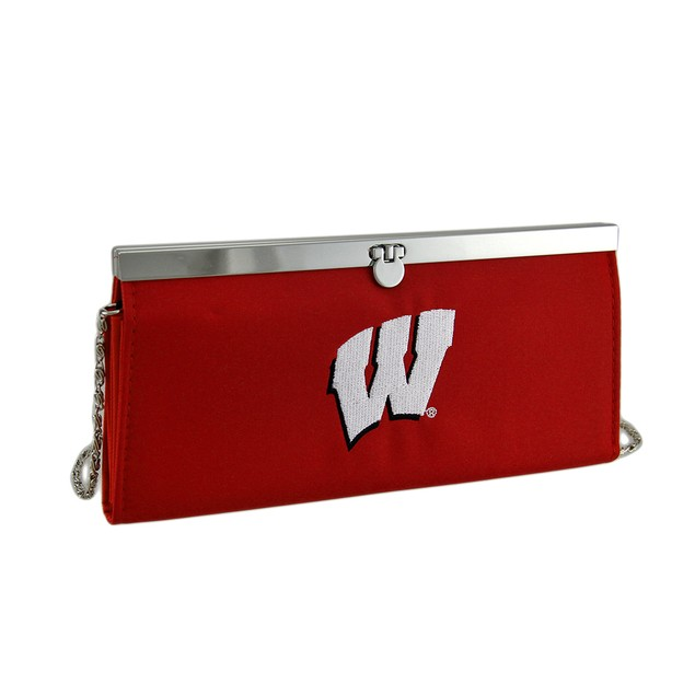 Embroidered Wisconsin Badgers Fabric Clutch Wallet Sports Fan Wallets