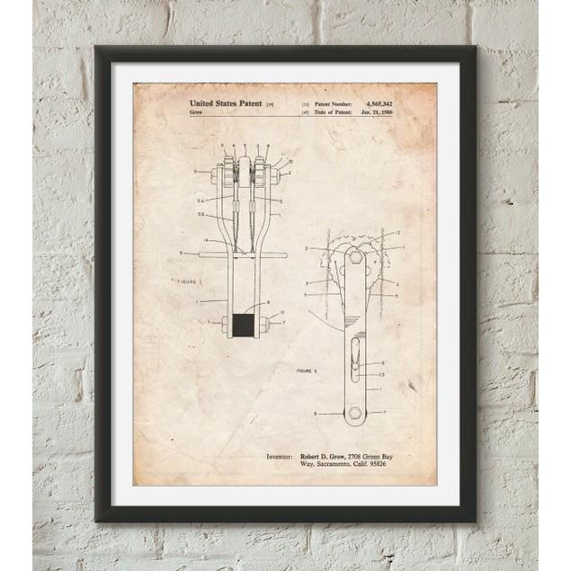 Rock Climbing Cam Patent Poster