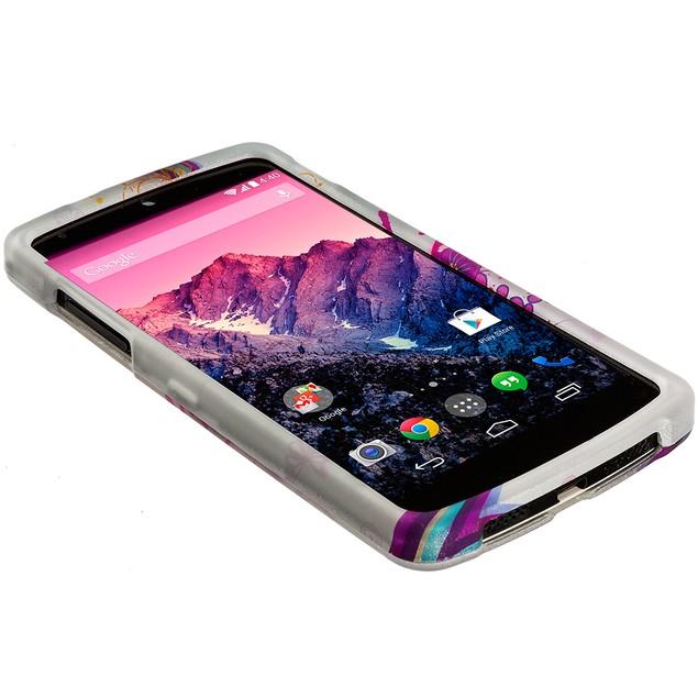 LG Google Nexus 5 Hard Rubberized Design Case Cover