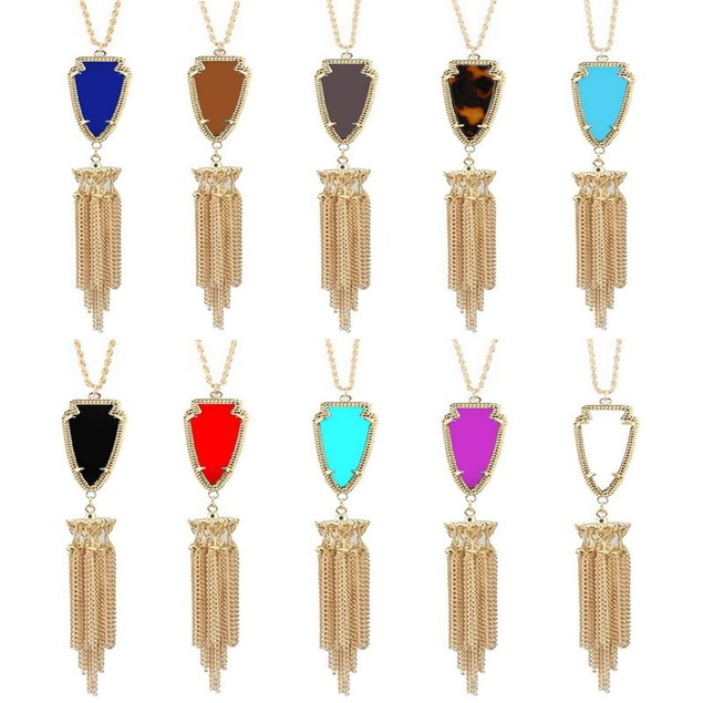 Boho Arrow Tassel Necklace