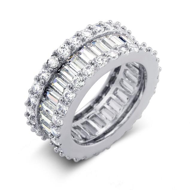 10cttw Emerald-Cut CZ Eternity Band Ring