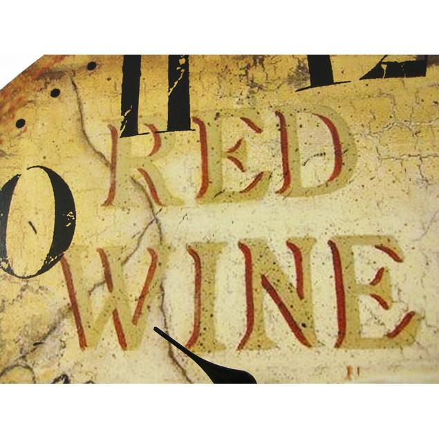 Wine Motif 23 Inch Diameter Wall Clock Vineyard Wall Clocks