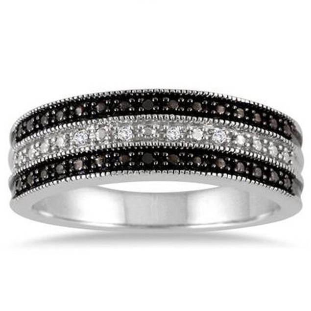 Genuine Black & White Diamond Rings