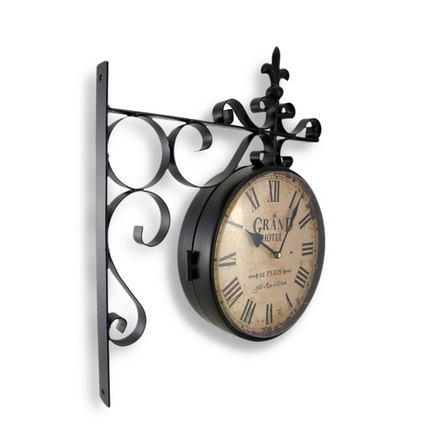 Grand Hotel Paris Double Sided Wall Mounted Clock Wall Clocks