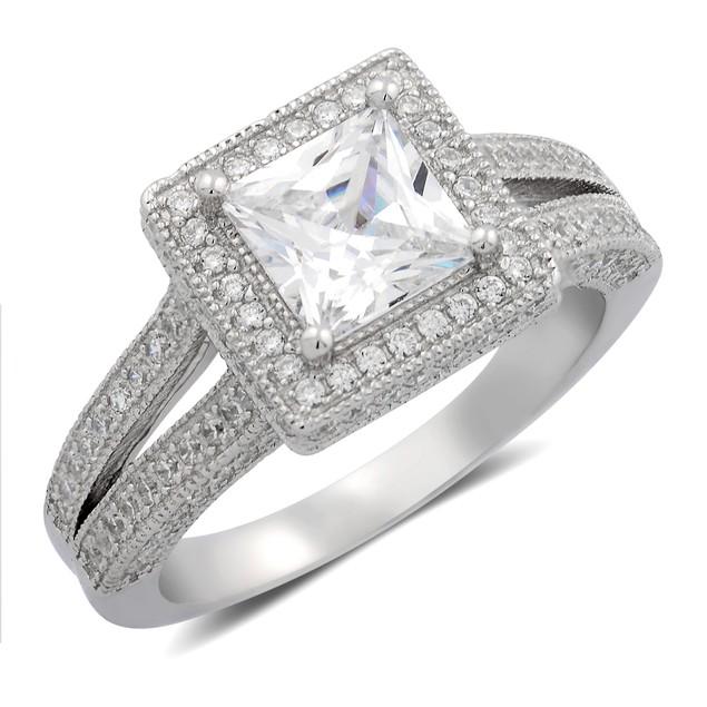 Princess Cut Micro Set Ring