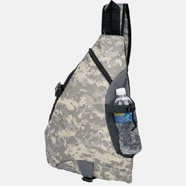 600D Poly Digital Camo Water-Resistant Sling Pack