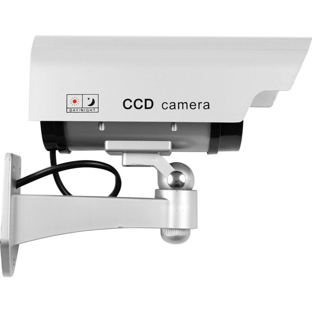 Security Camera Decoy with Blinking LED & Adjustable Mount