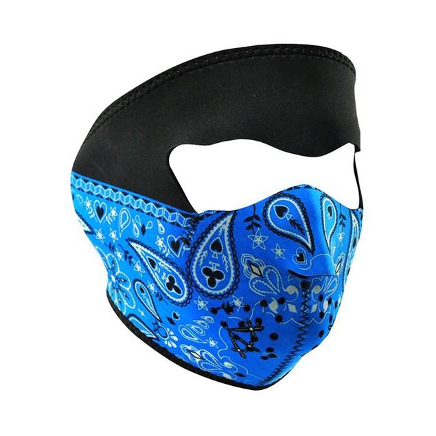 Blue Paisley Bandanna Neoprene Full Face Mask