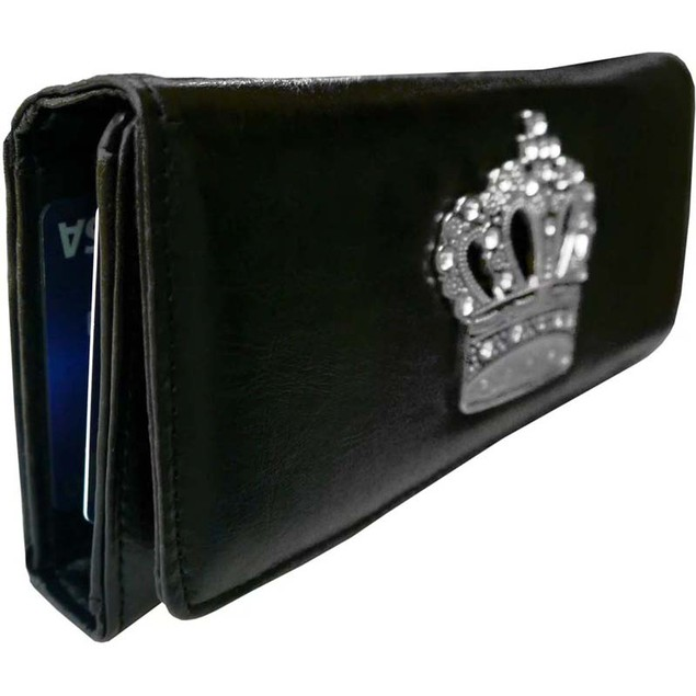 AFONiE Women'S Super Soft Leather Crown Wallet