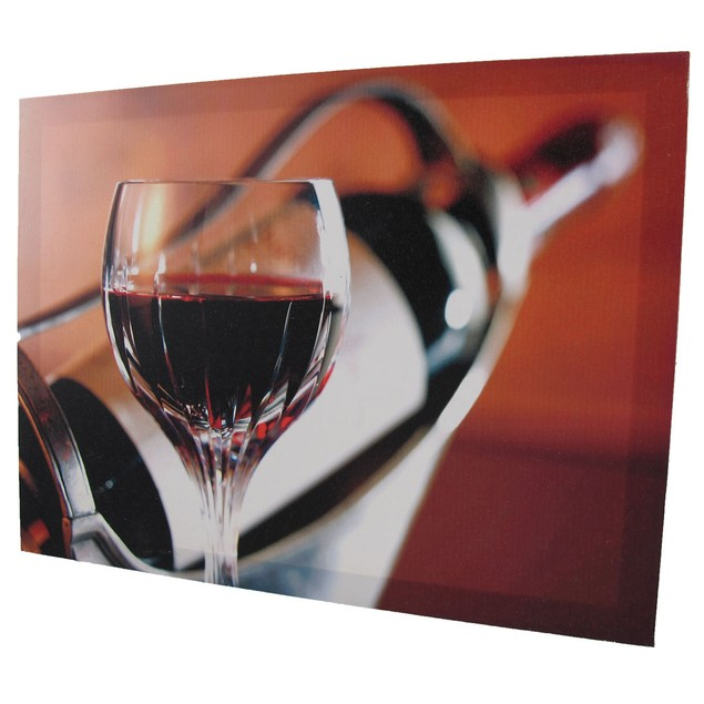 Pair Of Wine Themed Printed Canvases Prints