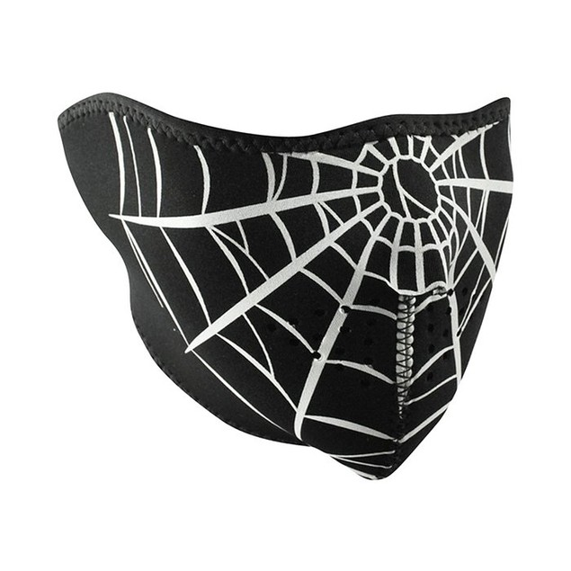 Neoprene 1/2 Face Mask - Spider Web
