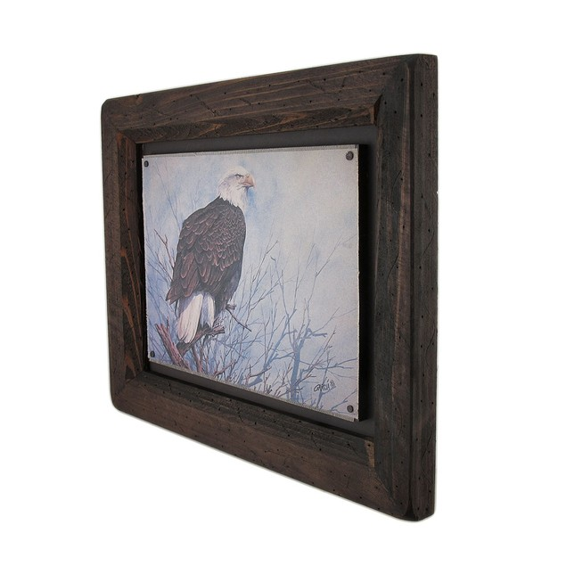Big Sky Carvers Bald Eagle Wood Frame Wall Art Prints