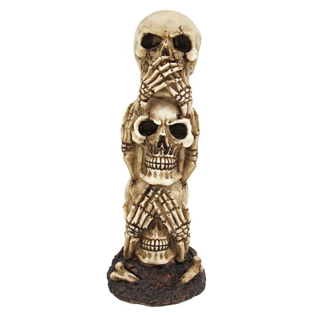 See No Evil, Hear No Evil, Speak No Evil Stacked Head Sculptures