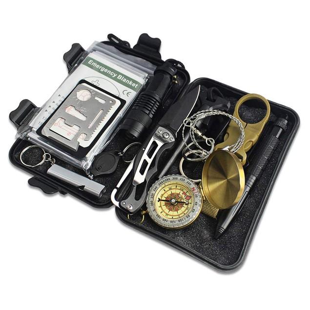 Outdoor Nation Survival Gear Kits 13 in 1 Emergency SOS Survive Tool