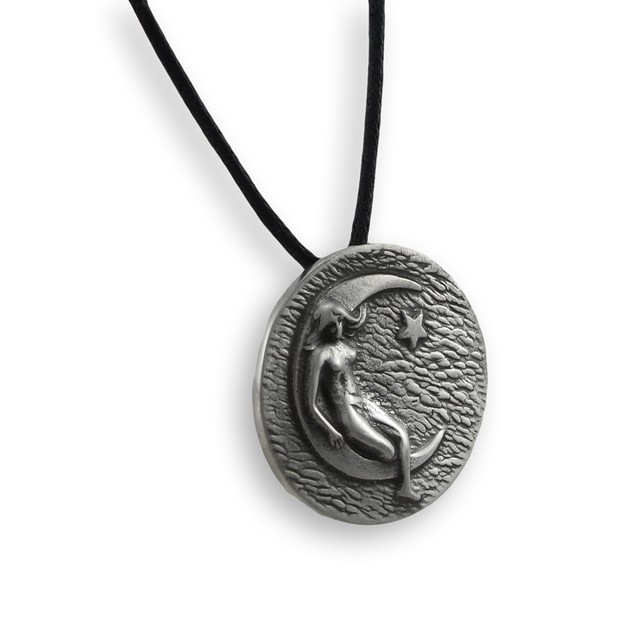 Luna, Moon Goddess Lead Free Pewter Pendant Womens Pendant Necklaces