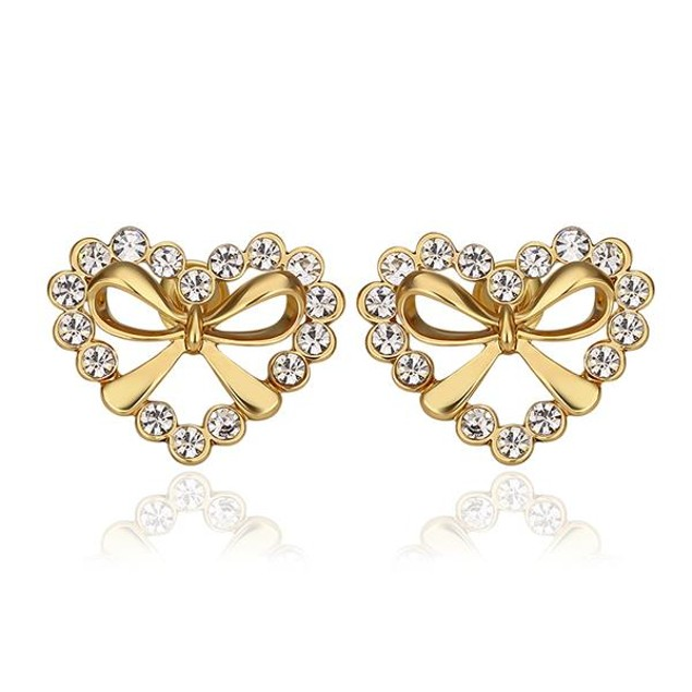 Gold Plated Hearts with Bows