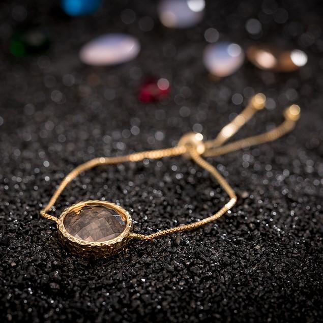 Gold Plated Light Coral Gem Bracelet